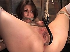 Hot College girl bound and tortured and made to CUM!