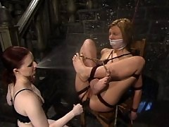 Claire trains Jolene in discipline, edging her to orgasm